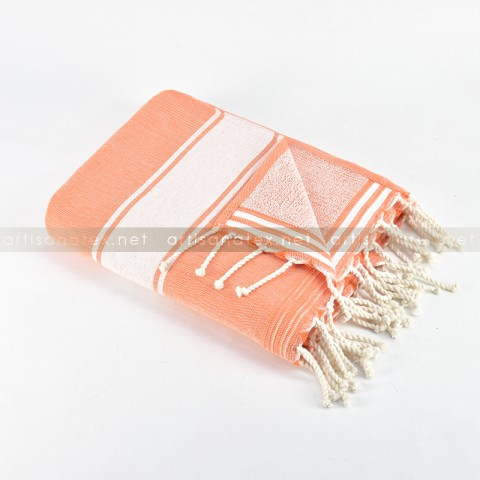 Fouta_eponge_classique_Orange_0_artisanatex_tunisia