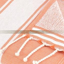 Fouta_eponge_classique_Orange_2_artisanatex_tunisia