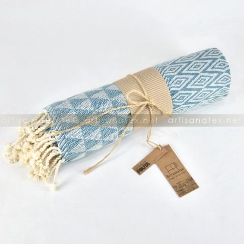 Fouta_Trilos_BagodaBlue_2_artisanatex_tunisia_craft_textile