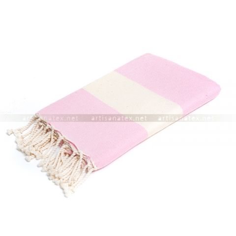 fouta_diamant_rose_artisanatex_tunisia