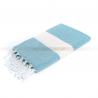 fouta_diamant_bright blue_artisanatex_tunisia