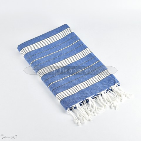 fouta Loraf blue artisatanex F3603