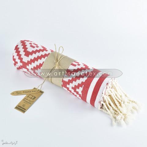 fouta margoum rouge artisanatex