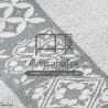 f0446 fouta mosaique jacquard dark grey artisanatex