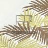 f0432 fouta palm brown gold jacquard artisanatex