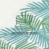 f0432 fouta palm vert lurex bleu jacquard artisanatex