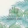 f0432 fouta palm green lurex blue jacquard artisanatex