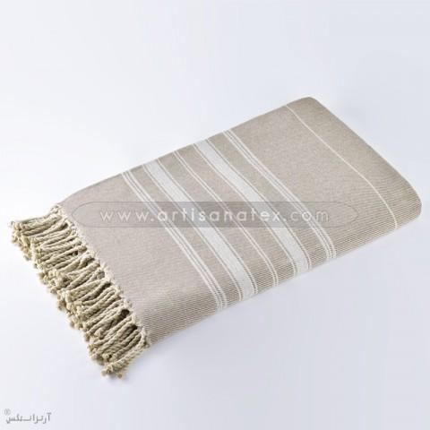 j1006 throw natte beige white artisanatex stripe