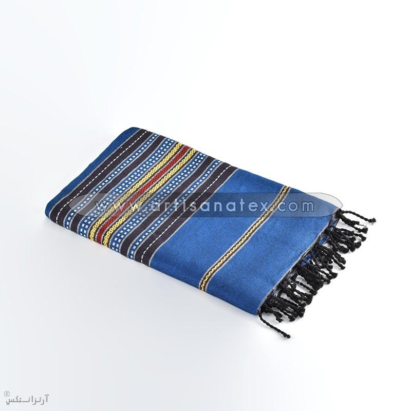 fouta mankouch f0611 arbi blue handmade artisanatex tunisie