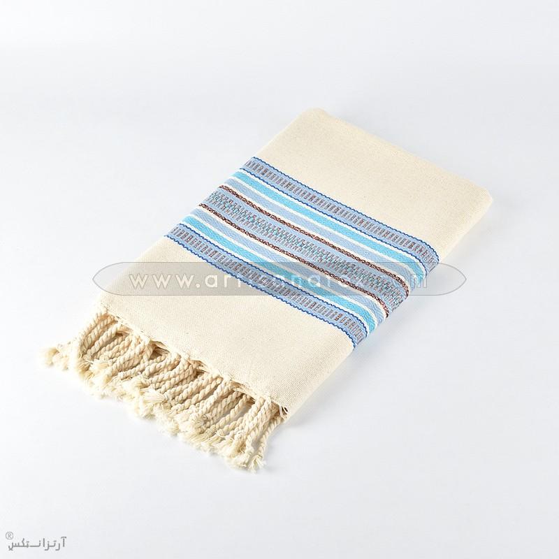 fouta arbi bronze bleu artisatanex F0610