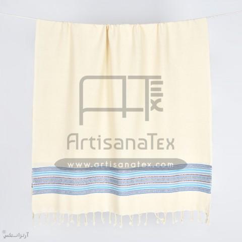 fouta arbi bronze blue artisatanex F0610