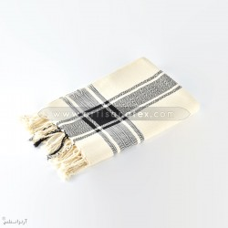 F0603 fouta arbi burberry losange artisanatex handmade