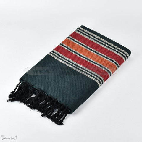 fouta africa f0609 black red artisanatex