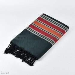 fouta africa f0609 noir rouge artisanatex