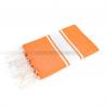 fouta_plat_classique_orange_artisanatex
