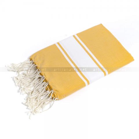 fouta classic yellow artisanatex tunisia