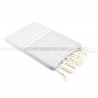 Fouta Plat Grandes Rayures Bicolore
