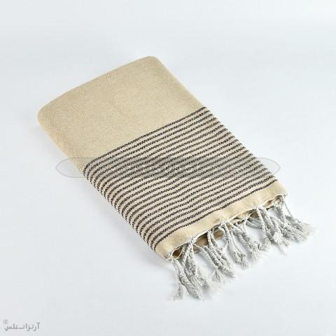 fouta diaman lurex f0503 beige bronze artisanatex