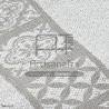 f0446 fouta mosaique jacquard ecru artisanatex tunisie