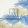f0432 fouta palm bleu doree jacquard artisanatex