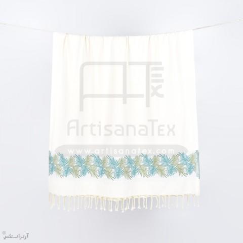 f0432 fouta palm vertlurex jacquard artisanatex